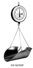 Century Series 7-inch Dial Hanging Scale With CG Scoop